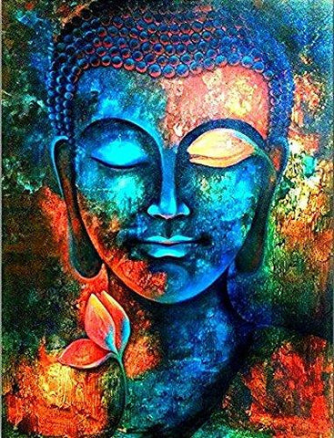 Lord Buddha Canvas Painting-Lord Buddha Abstract Painting