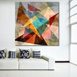 Geometric Abstract Canvas Painting-PPD