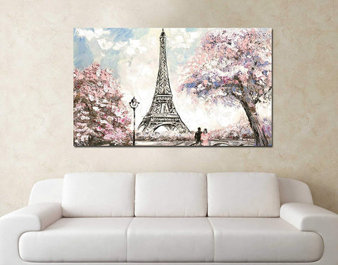 Paris Blossom Painting (Unframed Canvas painting)