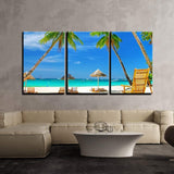 3 Piece Sky Beach Color Abstract Artwork Canvas Wall Art