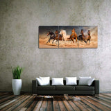 3 Pieces Running Horses Canvas Painting