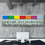 """I Never Stop Working"" Wall Art Canvas Painting"
