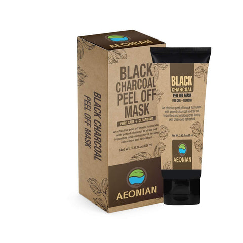 AEONIAN Black Charcoal Peel Off Mask (Buy 1 Get 1 Free)
