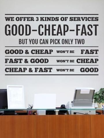 Office Quote Wall Sticker Premium Quality (75 cm x 50 cm)
