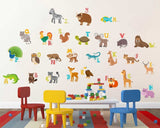 A-Z English Alphabets Animals Name wall Sticker