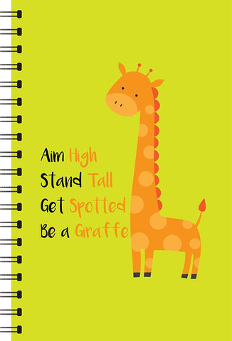 Giraffe Printed Designer Notebooks-khirki.in
