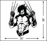 3D Wolverine Wall Sticker
