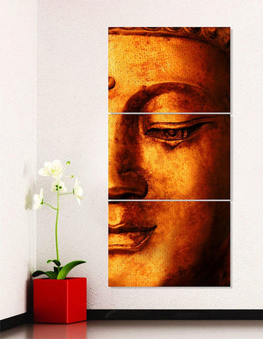 Buddha Modern Art Digital Print 3 Frame Painting
