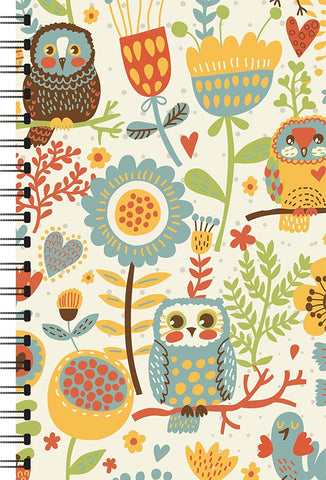 Owls Printed Designer Notebooks-khirki.in