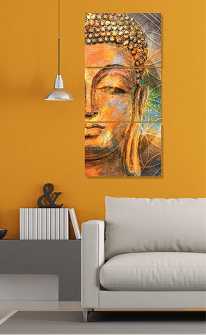 Exclusive Lord Buddha Sunboard 3 Panels Painting