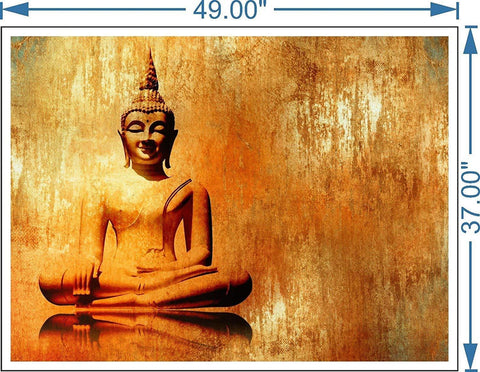 Golden Buddha Canvas Painting-Art Print For Home, Living Room and Office