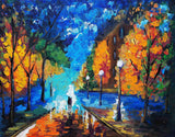 A Walk in the Park Abstract Painting(Unframed)