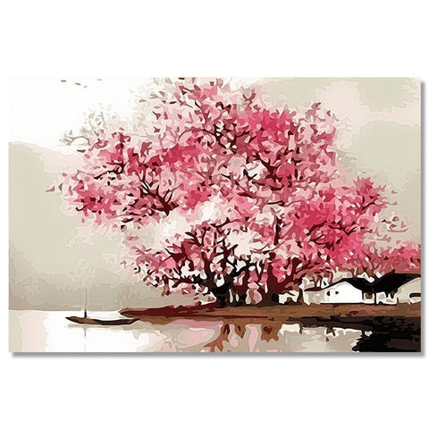 Beautiful Tree Canvas Painting for Home and Office Decor