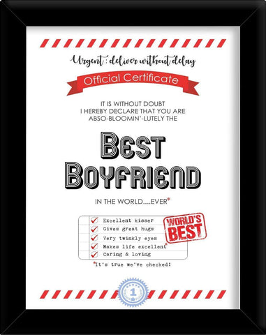 Best Boyfriend Certificates-Presents for boyfriends