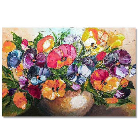 Canvas Flower Painting for Home and Office Decor(Unframed)