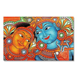 Radha Krishna Kerala Mural Art- Wall Canvas Painting