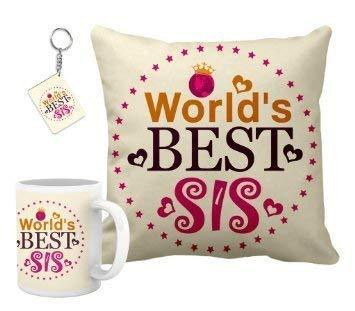 Printed Cushion and Mug Combo- Gift for Sister