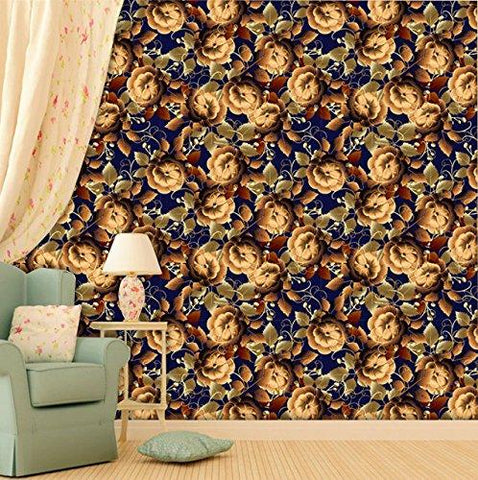 Flower Design Self Adhesive Wallpaper-khirki.in