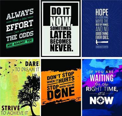 Motivation Posters Set of 6