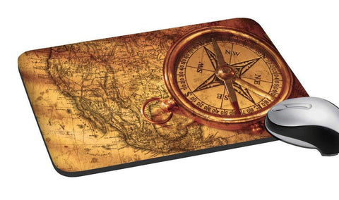Old Map Design Mouse Pad