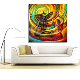 Shiva Parvati Painting-Shiva Canvas Painting( Unframed)