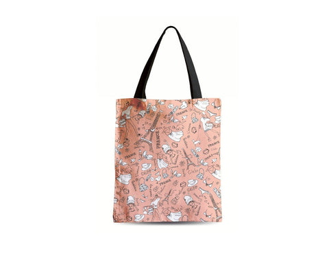 Women's Zipper Canvas Tote Bag