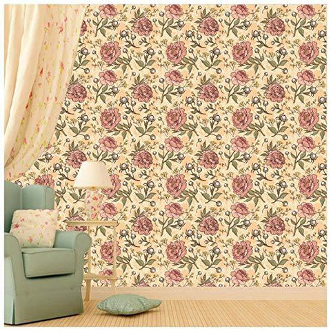 Beautiful Roses Pattern Wallpaper for Room