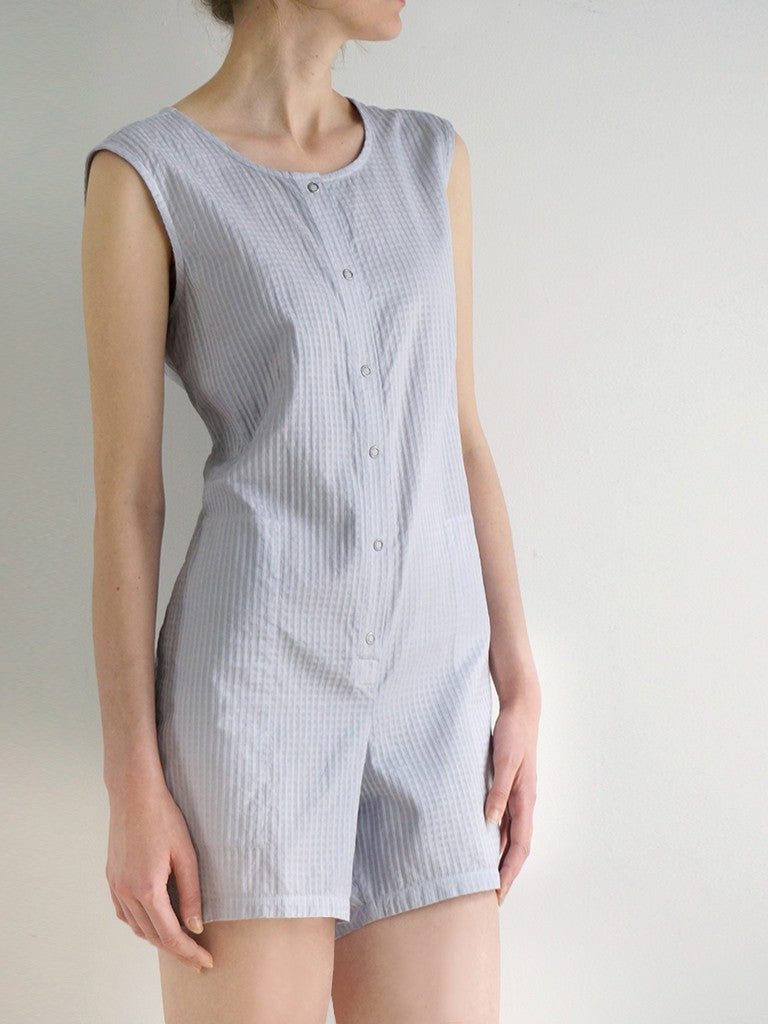 CLEO SHORTSUIT (Pewter and Ice)