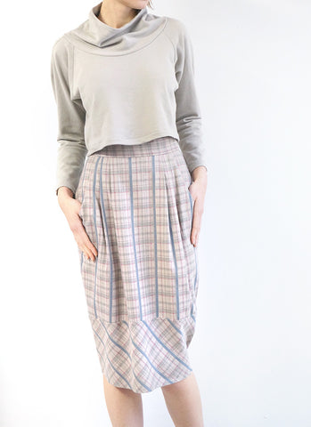 CROIX SKIRT (GREY PLAID)