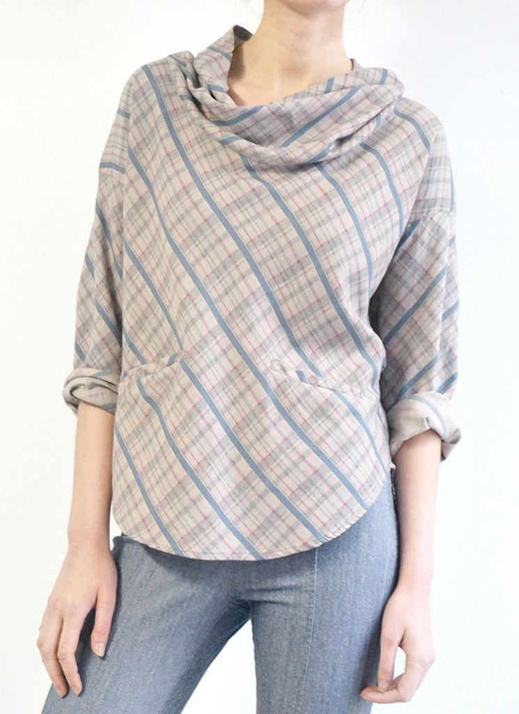 CROIX TOP (GREY PLAID)