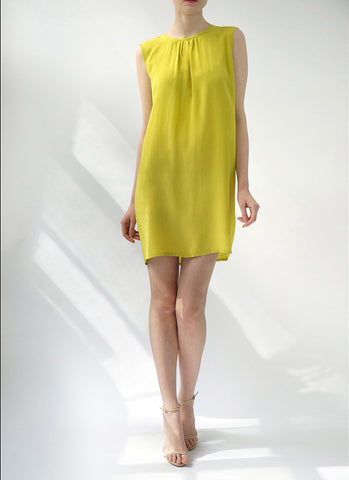 ESME SHIFT DRESS (CHARTREUSE)