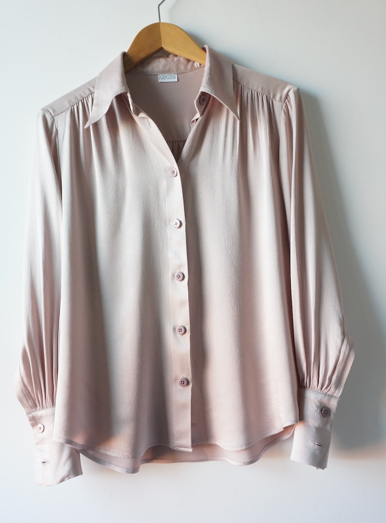 ESSEX BLOUSE (DUSTY ROSE, BRULEE, PATINA, BLACK)