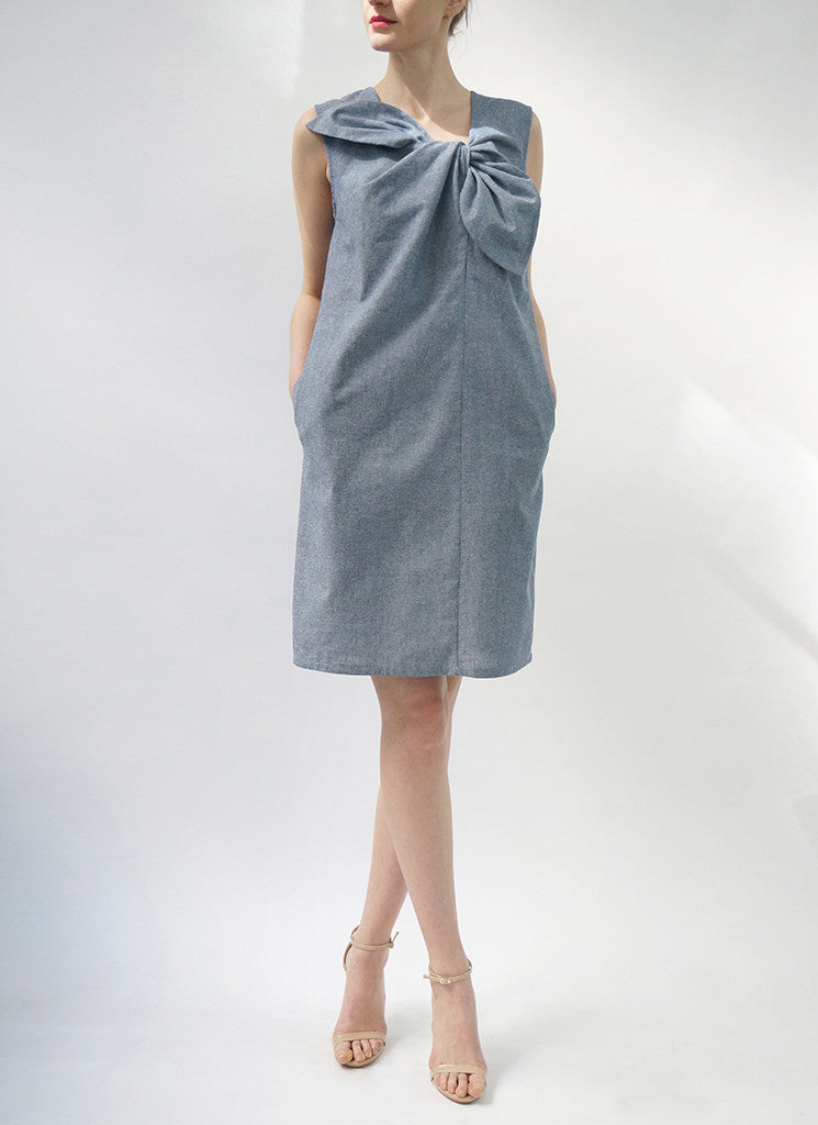 ESTE DRESS (CHAMBRAY)