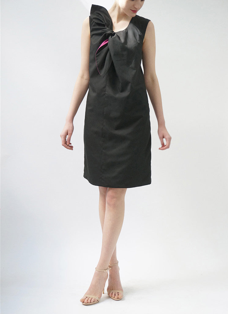 ESTE REVERSIBLE DRESS (BLACK/ROSE)