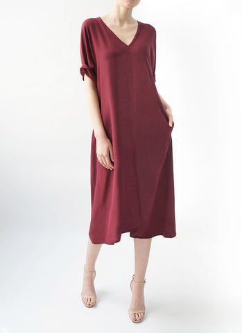 ETTA DRESS (BERRY)