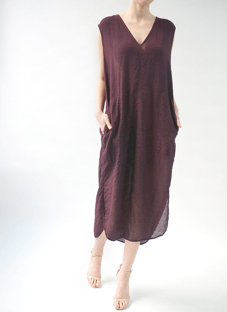 HELENNE DRESS (PLUM)