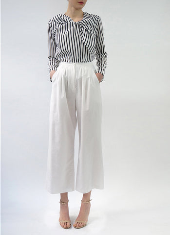 MARTINE TOP (WHITE, BOLD STRIPE)