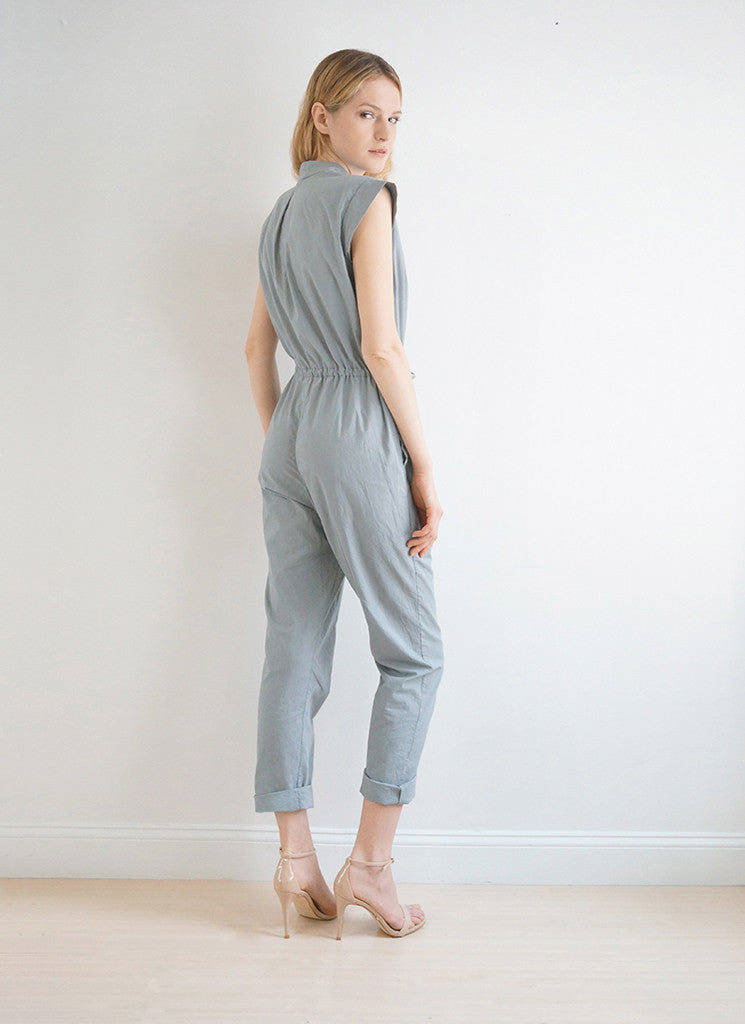 MERCER JUMPSUIT (Dove/Deco Blue)