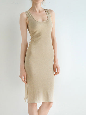 NECESSITA DRESS (SOLID GOLD)