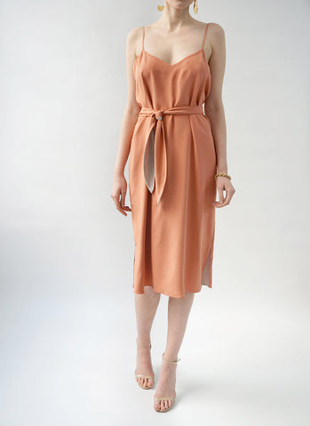 SABINE REVERSIBLE DRESS (PECHE/GYPSUM)