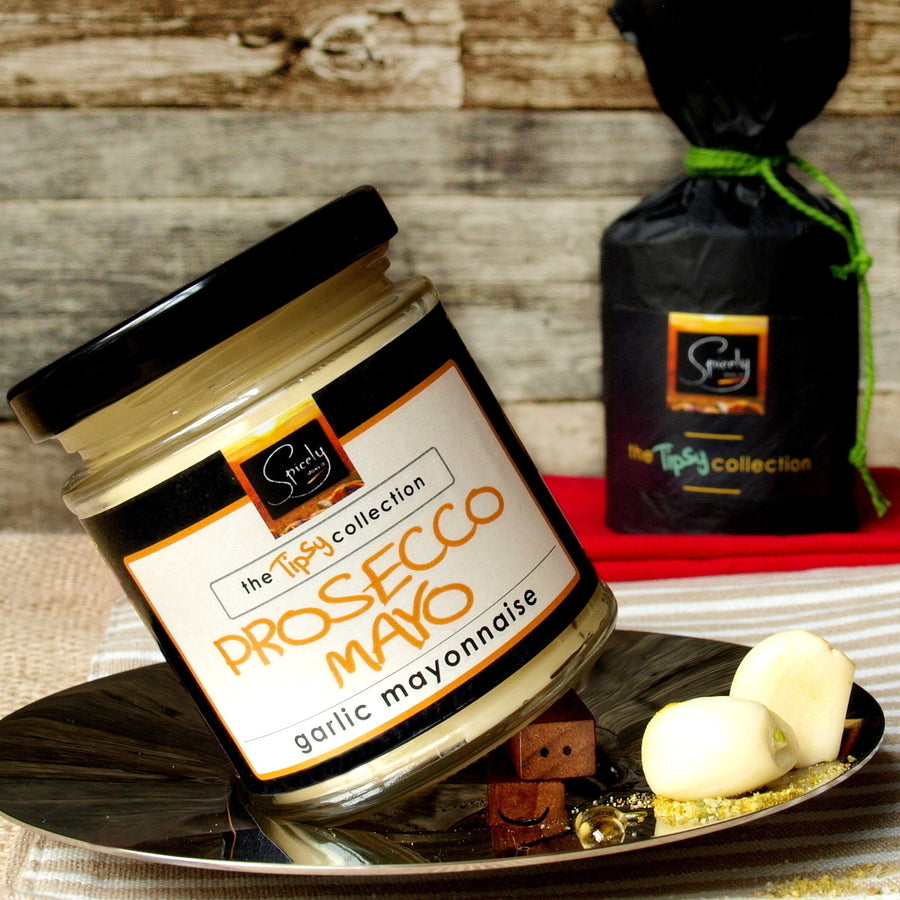Gift Wrapped Luxury Prosecco Garlic Mayonnaise