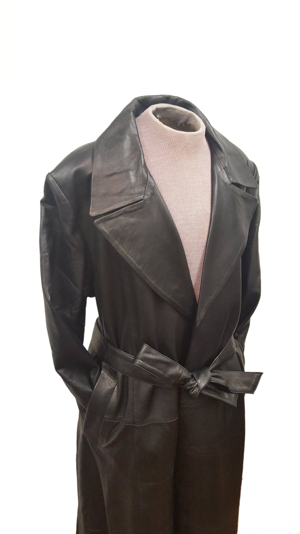 Men's Soft Lambskin Leather Trench Coat  Blade Movie Wesley Snipes Inspired