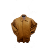 Image of Men's Classic Multi-Season Leather Bomber Jacket  Zip-Out Lining