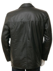 Men's Soft Leather 4 Button Coat Blazer