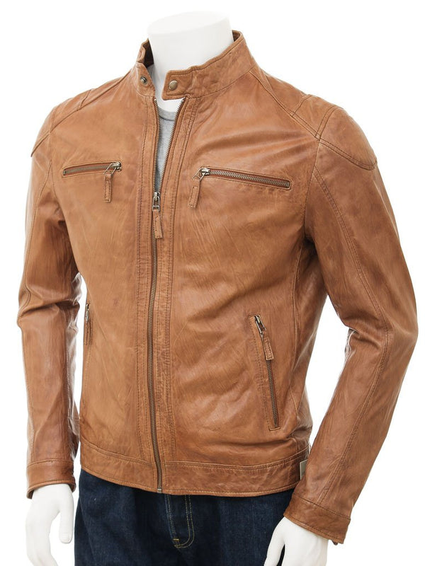 Simple Leather Biker Moto Jacket