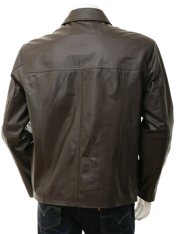 Men's Simple Premium Leather Straight Jacket
