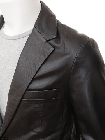 Men's 2 Button Nappa Leather Blazer