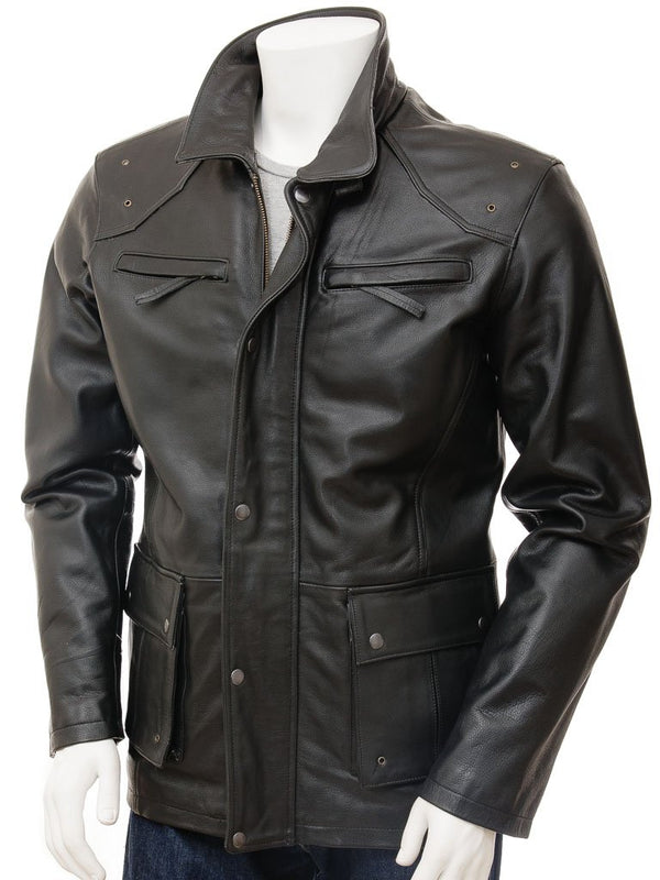 Mens 3/4 length car coat parka  jacket