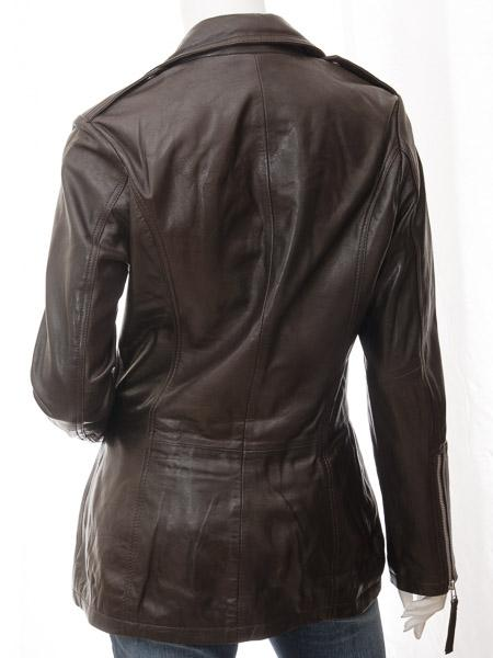 Women's Black Leather Motorcycle Long Coat