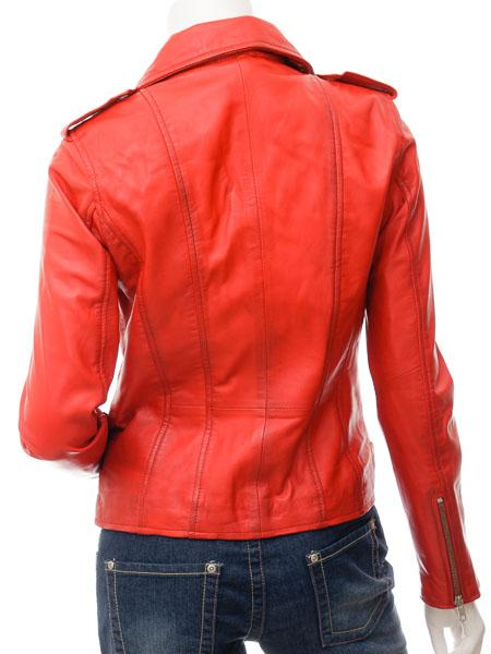 Women's Street Leather Moto Biker Jacket